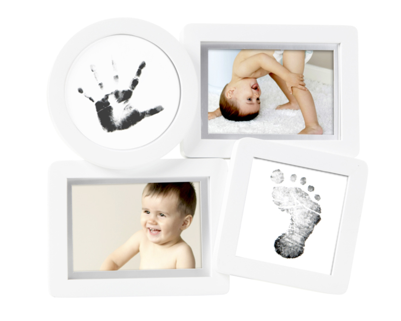 baby bilderrahmen mit hand und fussabdruck foto huwi shop exklusive fotogeschenke. Black Bedroom Furniture Sets. Home Design Ideas